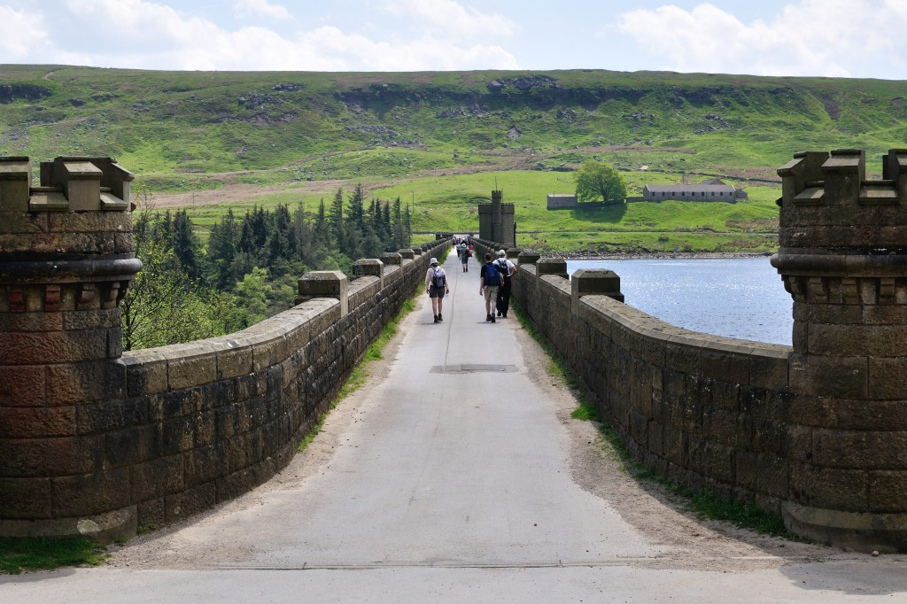 View across Scar House Reservoir from checkpoint