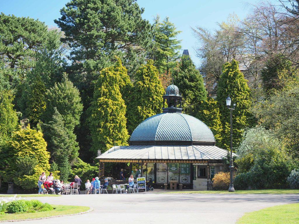 Coffee pavilion at Harrogate Valley Gardens